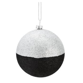 Trblietavá vianočná ozdoba Black/Silver