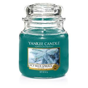 Svíčka Yankee Candle 411gr -Icy Blue Spruce