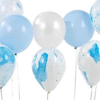 Nafukovací balónky Marble Blue set 12 kusů