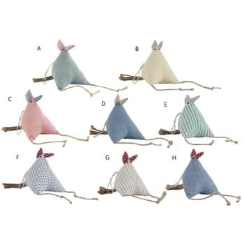 Závěsná dekorace Textil Hen - 8 druhů