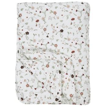 Prešívaný bavlnený prehoz Rose Wild Flowers 130x180
