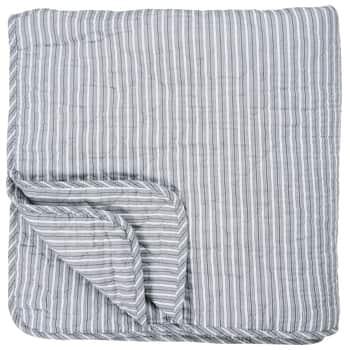 Prešívaný bavlnený prehoz Dark Grey Stripes 130x200