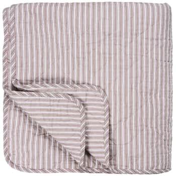 Prošívaný bavlněný přehoz Peony Stripes 130x200