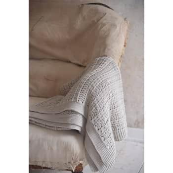 Pletený bavlněný přehoz Cream Beige