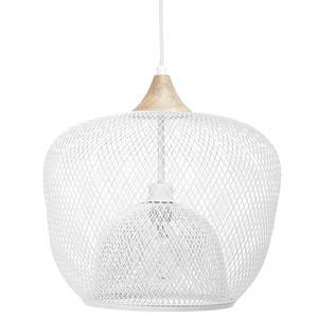 Kovový lustr White Pendant Lamp Ø 40 cm