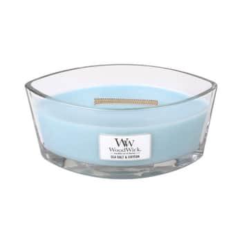 Vonná svíčka WoodWick - Sea Salt & Cotton 454g