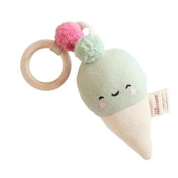 Závěsné chrastítko zorganické bavlny - Ice Cream