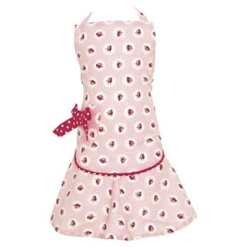 Dětská kuchyňská zástěra Strawberry pale pink