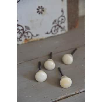 Dekorativní úchytka Ivory White