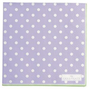 Papírové ubrousky Spot Lavendar - malé