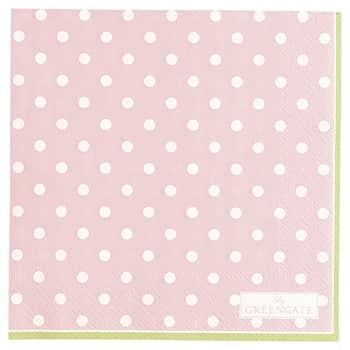 Papírové ubrousky Spot Pale Pink - malé