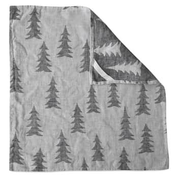 Ľanový uterák Gran Black 43x43 cm