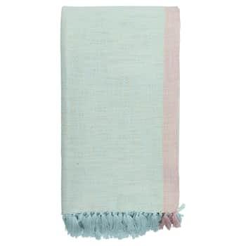 Bavlněný přehoz Minna Pale blue 130x180 cm