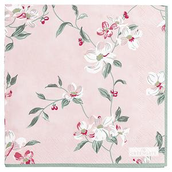 Papírové ubrousky Jolie Pale Pink - malé