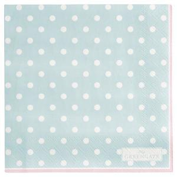 Papírové ubrousky Spot Pale Blue - malé