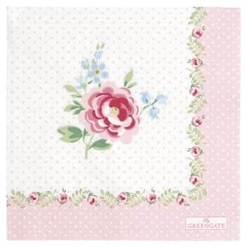 Papírové ubrousky Lily Petit White - malé