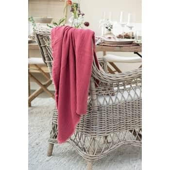 Bavlnený prehoz Weaving Pink