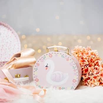 Dětský kufřík Freya Pink Swan