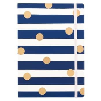 Nedatovaný mesačný diár Stripes & Dots A5