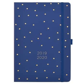 Denní diář 2019/2020 Blue & Gold Dots