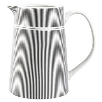 Porcelánový džbán Grey Stripes
