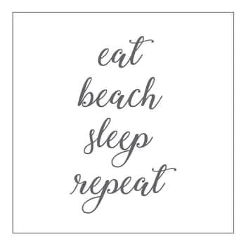 Papírové ubrousky Eat, Beach, Sleep, Repeat
