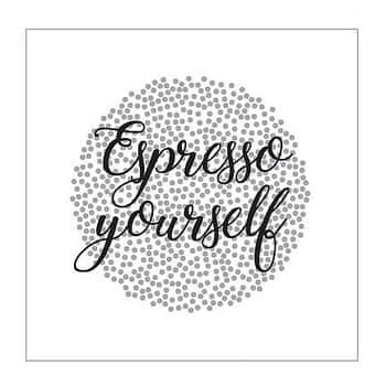 Papírové ubrousky Stardust Espresso Yourself