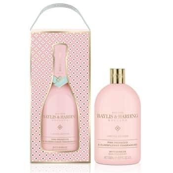 Pěna do koupele vdárkovém balení Pink Prosecco & Elderflower
