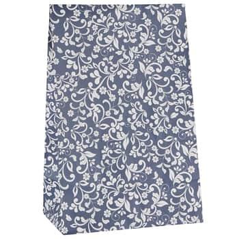 Papierový sáčok Flower pattern Blue L