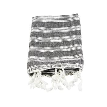 Bavlnený uterák Hammam Black 90 x 45 cm