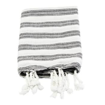 Bavlnený uterák Hammam White 90 x 45 cm