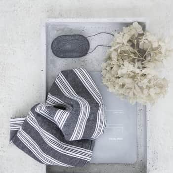 Bavlněné hadříky na úklid Hammam Grey - 3ks