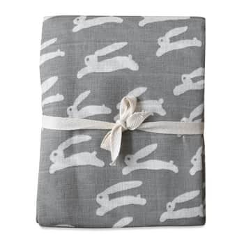 Detská mušelínová plienka Rabbit Grey
