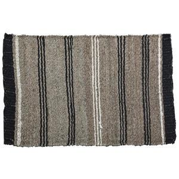 Slaměný kobereček Black Border 60x90 cm