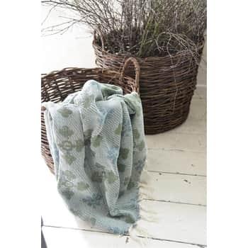 Pléd zrecyklovanej bavlny Woven Green