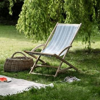 Zahradní lehátko Earl Grey Stripe