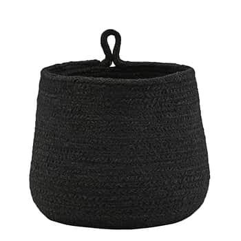 Slaměný košík spoutkem Hang Black