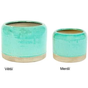 Keramický obal na květináč Turquoise Baoli Pot