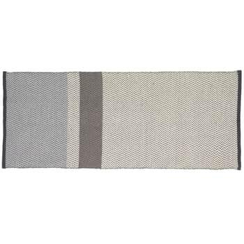 Vlněný koberec Grey/Off white 80x200 cm