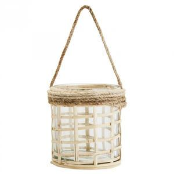 Závěsná vázička Glass/Bamboo