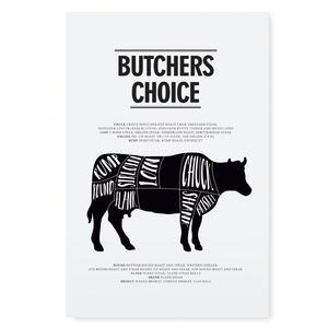 Plakát Butchers choice 21x30 cm