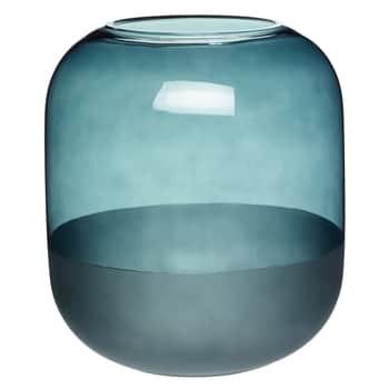Skleněná váza Big Matte Blue