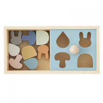 Dětské puzzle zbukového dřeva Colorful Shapes