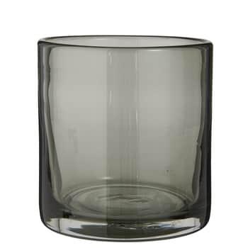 Svícen zručně foukaného skla Grey
