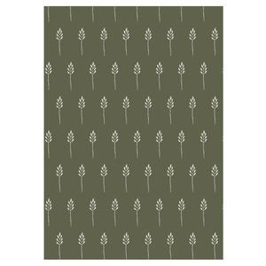 Baliaci papier Wild Wheat Autumn green - 10 m