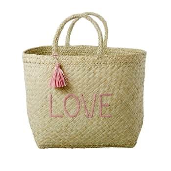 Ručně pletená nákupní taška Raffia Love