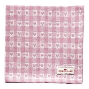 Látkový ubrousek Heart Petit Pale Pink