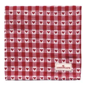 Látkový ubrousek Heart Petit Red
