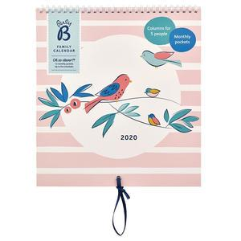 Rodinný nástěnný kalendář Breezy Blossoms 2020