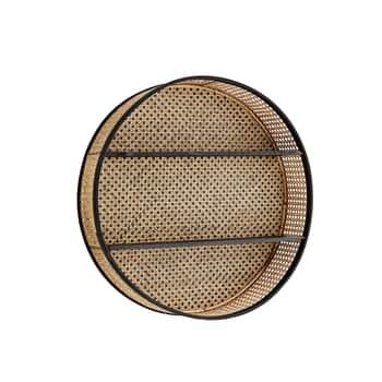 Kulatá ratanová polička Round Rattan Shelf ⌀ 60 cm